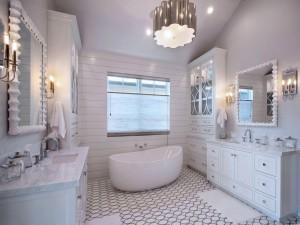 Elegante cuarto de baño