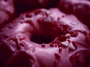 Un donut rosa