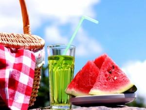 Sandia para un picnic veraniego
