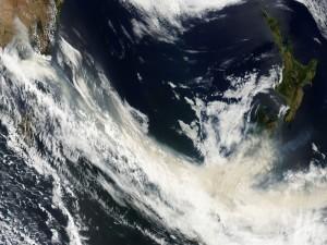 Vista satélite del mar de Tasmania