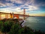 Hermosa vista del puente de San Francisco