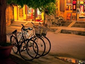 Bicicletas aparcadas en una calle
