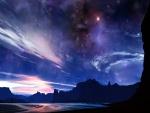 Cielo estrellado al amanecer