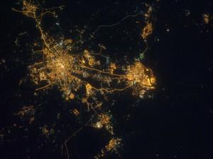 Tianjin vista desde el espacio