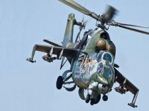 Un helicóptero militar Kamov KA-27