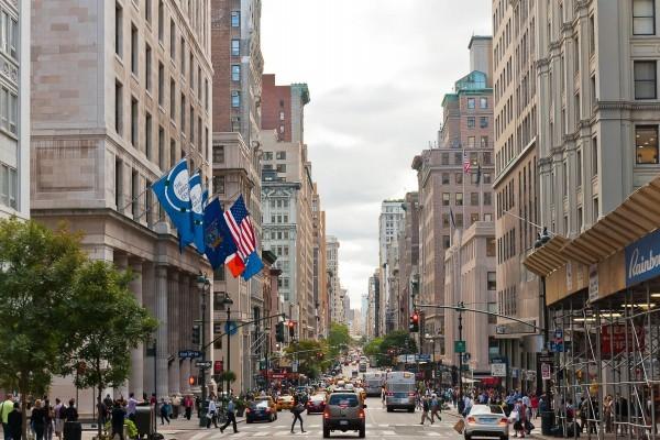 Vista de una de las calles de la ciudad de Nueva York