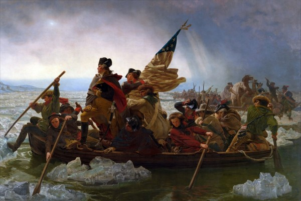 Washington cruzando el Delaware (Emanuel Gottlieb Leutze)