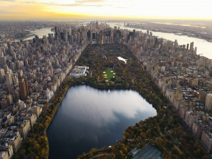 Vista de Central Park y la ciudad de Nueva York