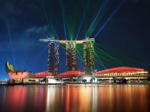 Luces en Singapur