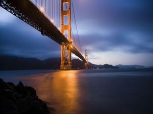 Luces sobre el puente de San Francisco