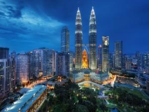Luces en Kuala Lumpur (Malasia)