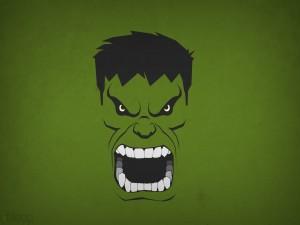 La cara de Hulk