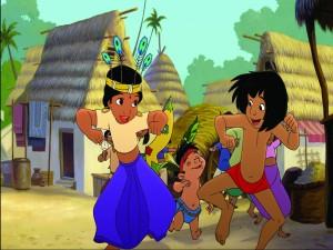 Mowgli y Shanti bailando (El Libro de la Selva 2)