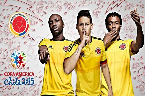"""Jugadores de la Selección Colombiana presentando la """"Copa América Chile 2015"""""""