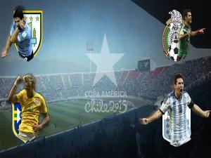 """Cuatro Selecciones que jugarán la """"Copa América Chile 2015"""""""