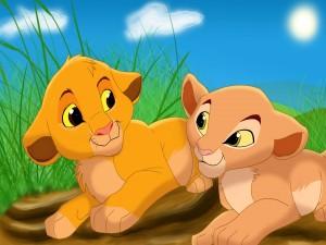 Los cachorros Simba y Nala (El Rey León)