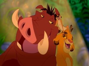 Simba, Timón y Pumba (El Rey León)