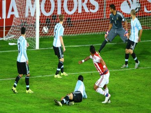 "El gol del empate a Argentina de Lucas Barrios (Paraguay) ""Copa América Chile 2015"""