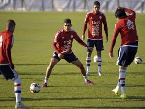 """Los chicos de la Selección de fútbol de Paraguay entrenando en la """"Copa América Chile 2015"""""""