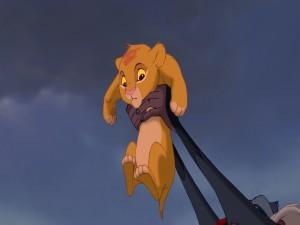 Rafiki presentando a Simba (El Rey León)