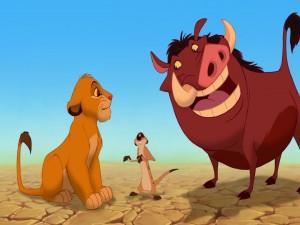El pequeño Simba, Timón y Pumba (El Rey León)