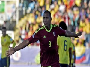 """Salomón Rondón (Venezuela) tras el gol a Colombia """"Copa América Chile 2015"""""""