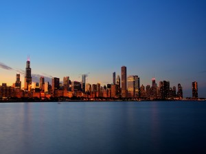Chicago visto al amanecer