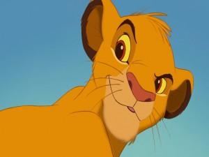 La cara de Simba (El Rey León)