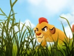 Simba aprendiendo a cazar (El Rey León)