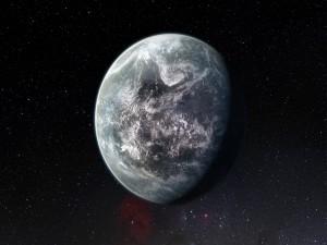 Nuevo planeta en el espacio