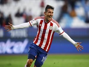 """Edgar Benítez (Paraguay) tras meter un gol a Jamaica """"Copa América Chile 2015"""""""