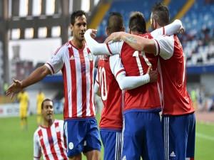 "Jugadores de Paraguay felices por ganar a Jamaica (1-0) ""Copa América 2015"""