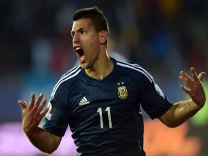 "Kun Agüero (Argentina) feliz tras meter un gol a Uruguay ""Copa América 2015"""
