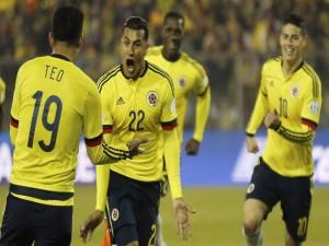 """Felicidad entre los jugadores colombianos tras el gol a Brasil """"Copa América 2015"""""""