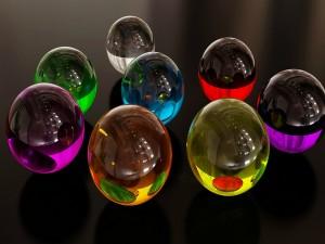 Esferas reflejadas en otras esferas