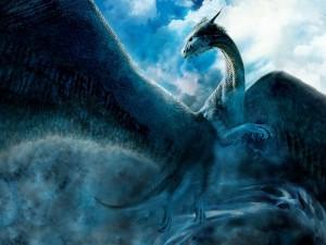 Gran dragón volando