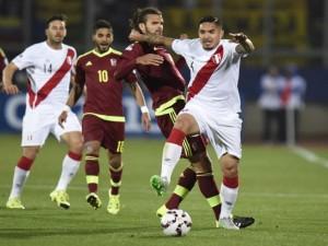 """Victoria de Perú ante Venezuela (1-0) en la """"Copa América Chile 2015"""""""