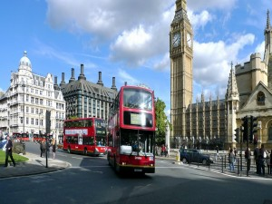 Autobuses en la ciudad de Londres
