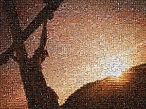 Mosaico de Jesús crucificado