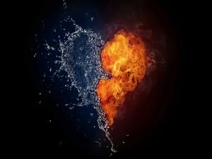 Corazón de agua y fuego