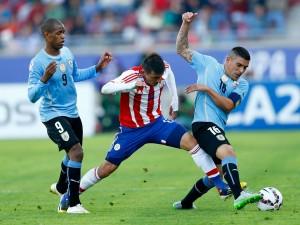 """Jugada en el partido Uruguay contra Paraguay """"Copa América 2015"""""""