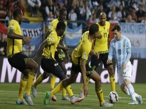 """Messi en el partido contra Jamaica durante la """"Copa América Chile 2015"""""""
