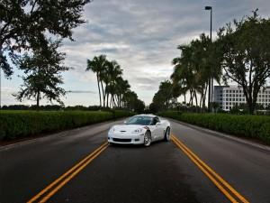 Corvette Z06 en una carretera