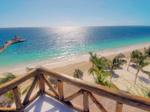 Bonitas vistas de la playa y el mar