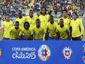 "Selección de fútbol de Ecuador durante la ""Copa América Chile 2015"""