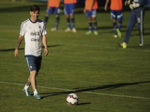 """Leo Messi entrenando en la """"Copa América Chile 2015"""""""