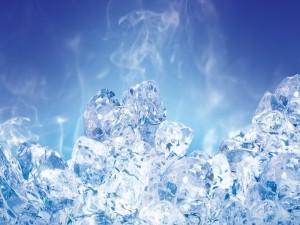 Unos cubos de hielo