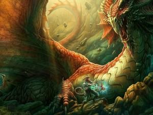 Ser dando muerte a un dragón
