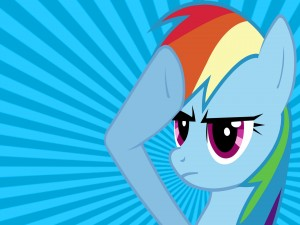 La cara de Rainbow Dash (My Little Pony)