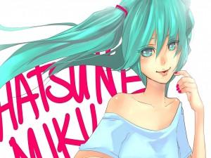 La guapa Miku Hatsune